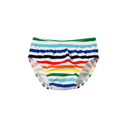 The Rainbow Stripe Swim Diaper by Primary