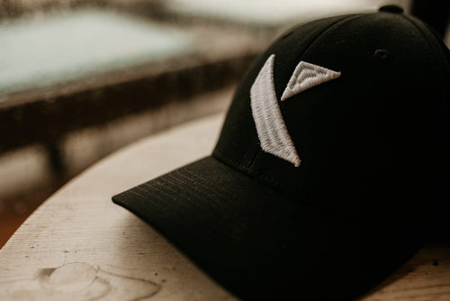 Black (White Logo) Kaleido Hat