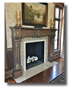 Custom Mantel on a Grand Scale