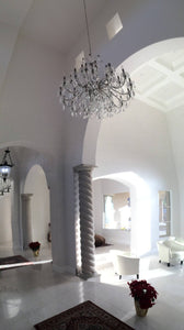 Bringing French Splendour to a Spanish Mediterranean Style Home,  Part I:  The Foyer