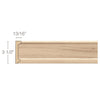"Frieze Moulding for 2 1/4"" Inserts, 3 1/2"" x 13/16"" x 8' length"