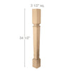 "Palladian Island Column Whole, 3 1/2""w x 34 1/2""h x 3 1/2""d"
