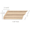 "Crown Moulding for 3/4"" Inserts, 4 5/8""w x 2 51/64""d x 8' length"