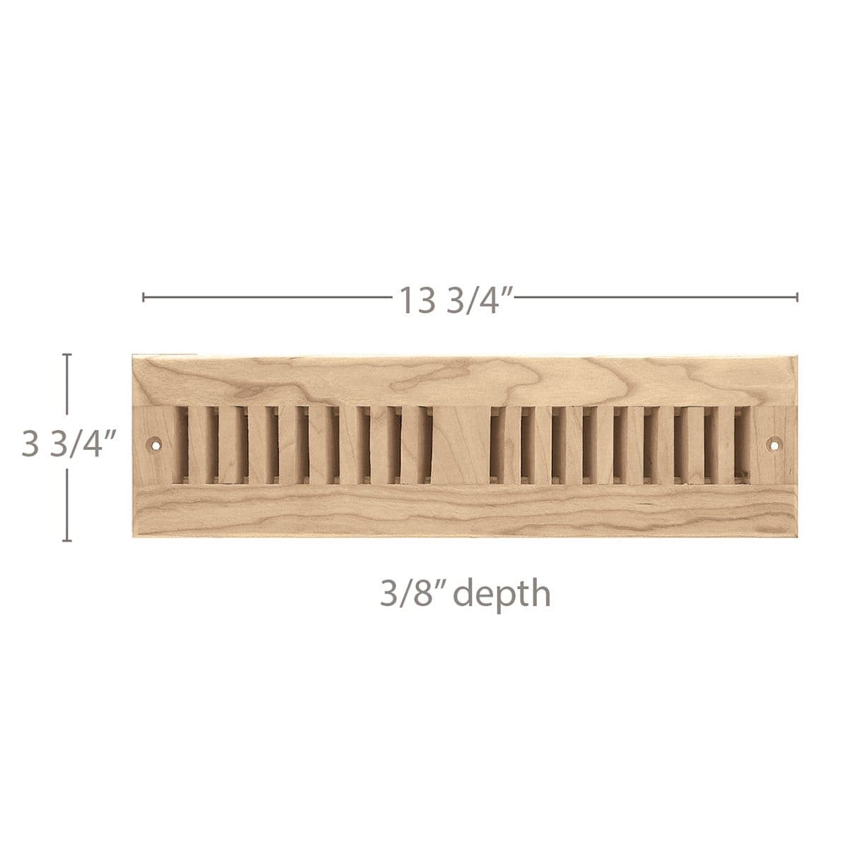 "2 x 12 Vent, 3 3/4"" x 3/8"" x 11 3/4"" length, Self Rimming Toe Kick Vent"