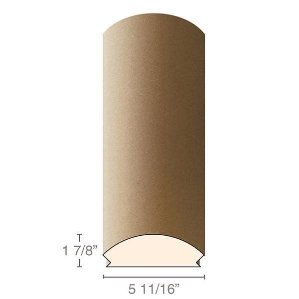 "MDF Radius Corners, L Corner (accepts 3/4"" plywood), 5 11/16""w x 1 7/8""h x 97""L"