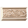 "Rinceau Scrolls Frieze, 5""w x 3/4""d x 8' (Repeat 8 3/8""), Resin"