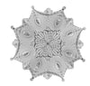 "French Medallion, Plaster, 78""w x 78""h x 2""d, ( 4-quarters ) Plaster, Made to Order, Not Returnable. Sold as 4 pieces."
