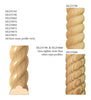 Large Rope Half Round Lineal, 2''w x 1''d x 8' length, Sold in pairs, Resin is priced per 8' length