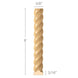 "Rope Half Round, 3/8""w x 3/16""d x 8' length, Resin is priced per 8' length"