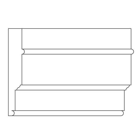 Custom Architrave, 1'' x 5 1/8'', Poplar