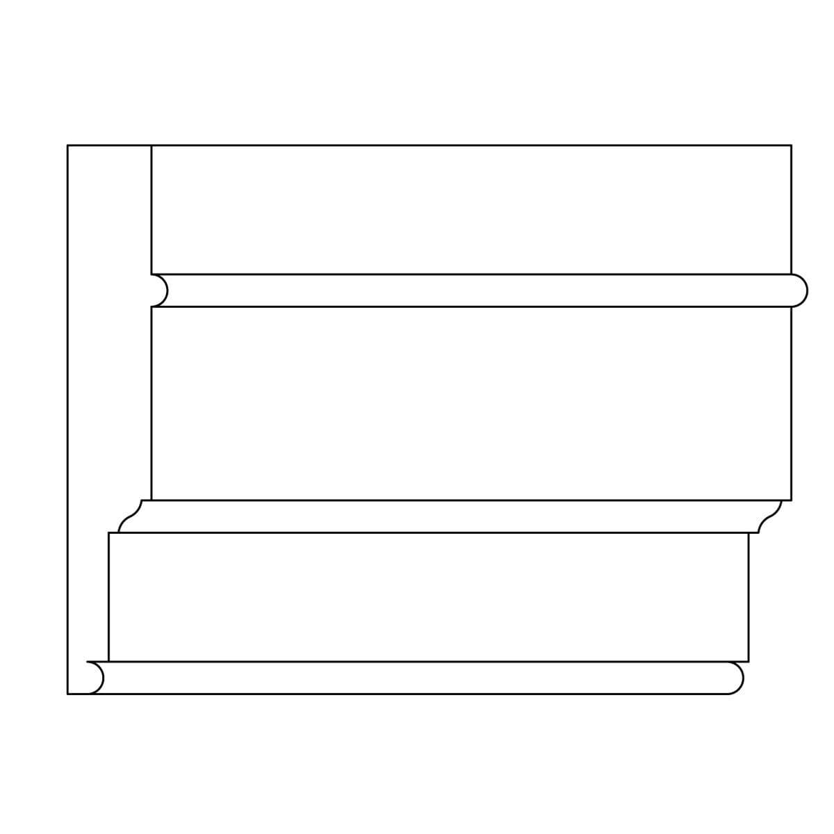 "Custom Architrave, 1 1/8"" x 6 1/8"", Poplar"
