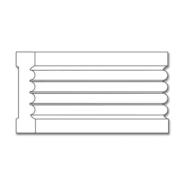 Fluted Casing, 3 1/4''w x 3/4''d