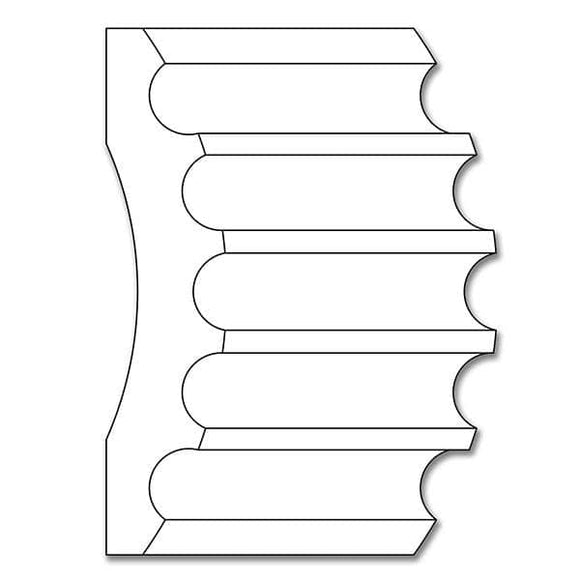 Fluted Casing, 8''w x 1 3/4''d