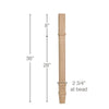 "Transitional Square Island Column, 2 3/4""sq. x 36""h"