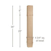 "Transitional Square Island Column, 4 3/4""sq. x 36""h"