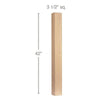"Contemporary Straight Square Bar Column, 3 1/2""sq. x 42""h"