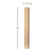 "Contemporary Straight Square Island Column, 3 1/2""sq. x 36""h"