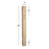 "Mission Square Raised Panel Island Column, 3""sq. x 36""h"