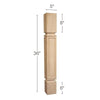 "Mission Square Raised Panel Island Column, 5""sq. x 36""h"