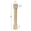 "Corinthian Reeded Island Column, 5""sq. x 36""h"