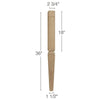 "Mission Tapered Square Raised Panel Island Column, 2  3/4""sq. x 36""h"