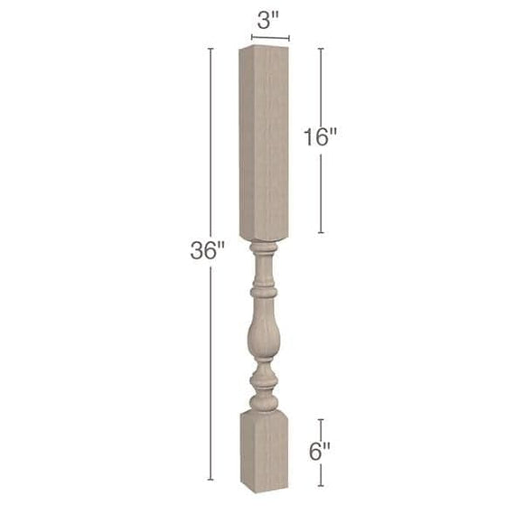 Tapered Vanity Leg, 3