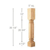 "Traditional Classic Column, 5""sq. x 35 1/4""h"