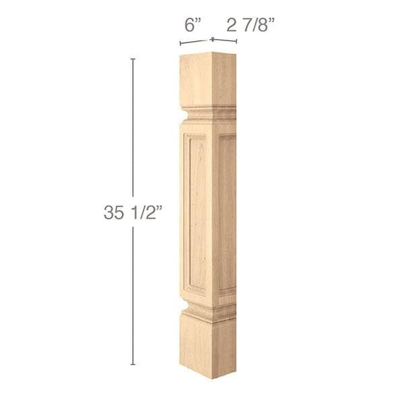 Medium Traditional Column Half, 6