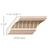 Fluted Crown, 4 3/8''w x 13/16''d