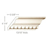 Large Dentil Crown (Dentil is overlay), 5 1/2''w x 13/16''d
