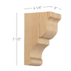 "Transitional Small Bar Bracket Corbel, 3""w x 7 1/2""h x 4 1/4""d"
