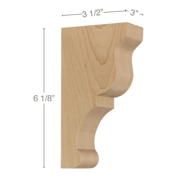 Transitional Extra Small Bar Bracket Corbel, 3
