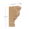"Transitional Large Bar Bracket Corbel, 4 3/4""w x 12 3/4""h x 6 9/16''d"