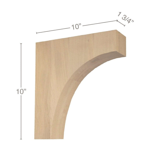 Contemporary Overhang Bar Bracket Corbel, 1 3/4