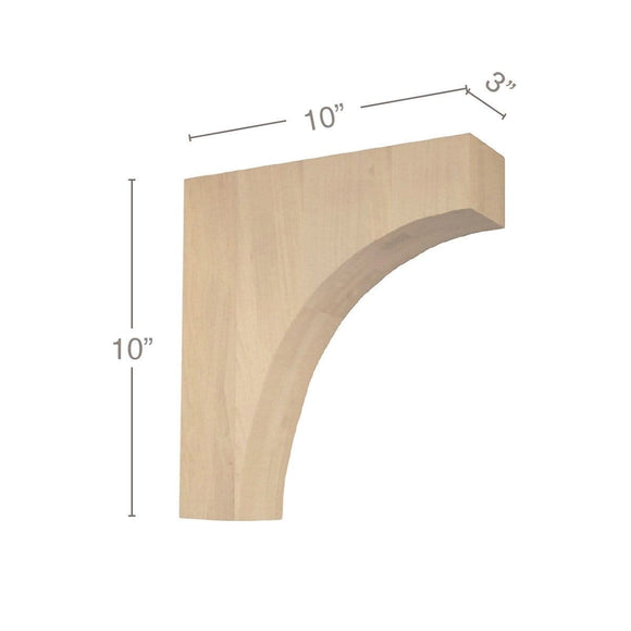 Contemporary Overhang Bar Bracket Corbel, 3