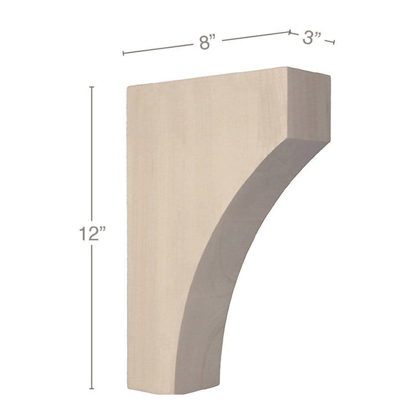 Contemporary Large Bar Bracket Corbel, 3