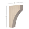"Contemporary Large Bar Bracket Corbel, 3""w x 12''h x 8""d"