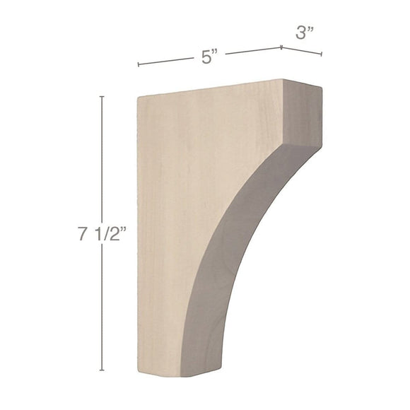 Contemporary Small Bar Bracket Corbel, 3