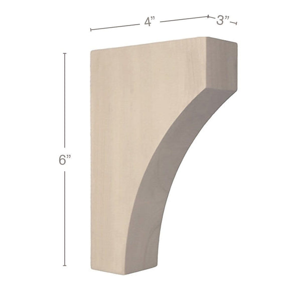 Contemporary Extra Small Bar Bracket Corbel, 3