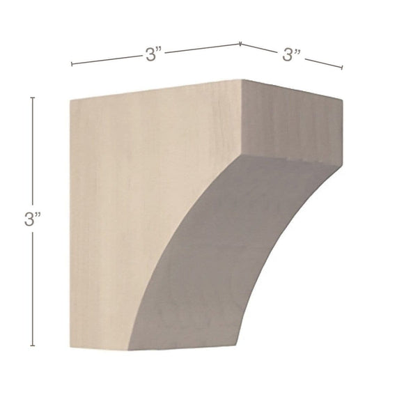 Contemporary Petite Bar Bracket Corbel, 3