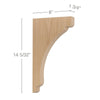 "Shaker Large Bar Bracket Corbel, 1 3/4""w x 14 5/32''h x 8""d"