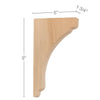 "Shaker Small Bar Bracket Corbel, 1 3/4""w x 9""h x 5""d"