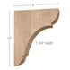 "Classic Large Bar Bracket Corbel, 1 3/4""w x 12""h x 8""d"