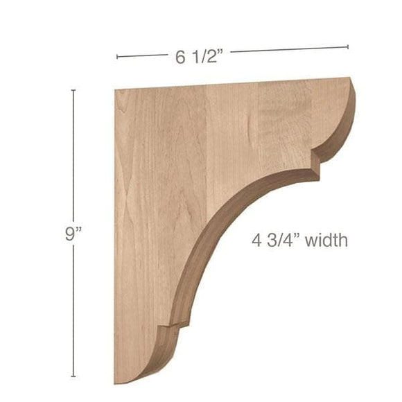 Classic Medium Bar Bracket Corbel, 4 3/4