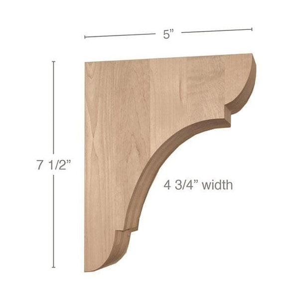Classic Small Bar Bracket Corbel, 4 3/4