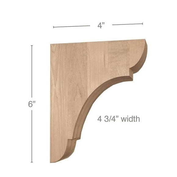 Classic Extra Small Bar Bracket Corbel, 4 3/4
