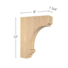 "Cavetto Large Bar Bracket, 1  3/4""w x 12""h x 8""d"