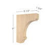 "Cavetto Medium Bar Bracket, 1  3/4""w x 9""h x 6  1/2""d"