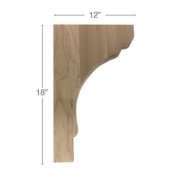 "Shaker Trim To Fit Corbel, 1  3/4""w x 18""h x 12""d"