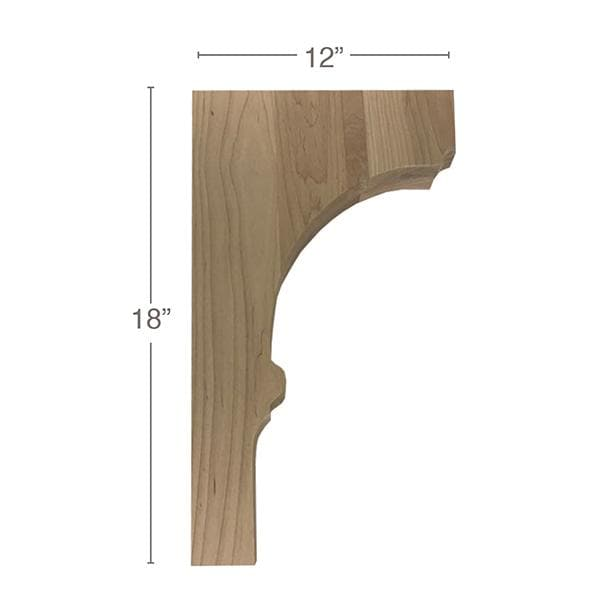 "Trim To Fit Corbel, 1  3/4""w x 18""h x 12""d"